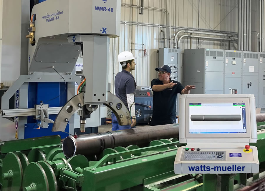 Watts-Mueller Retrofit Pipe Cutting and Beveling Equipment
